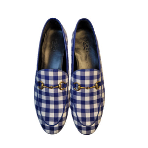 Gucci Blue Gingham Loafers
