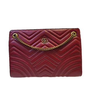 Gucci Chevron Red Purse