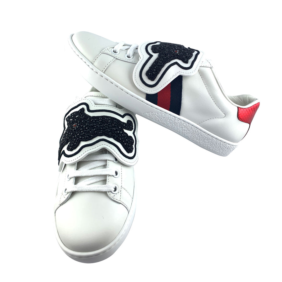 Gucci Ace Sneakers with Removable Panther Patches
