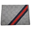 Gucci GG Wool Alpaca Fringe and Web Scarf