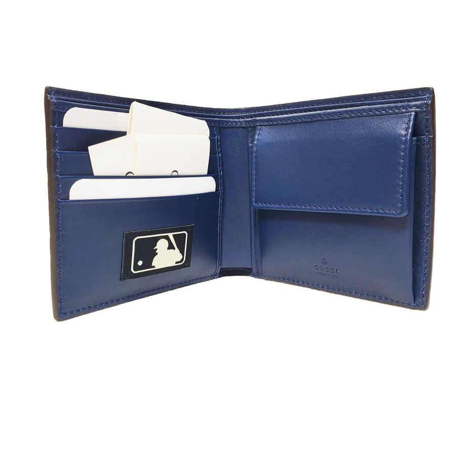 Gucci New York Yankees Navy GG Leather Wallet