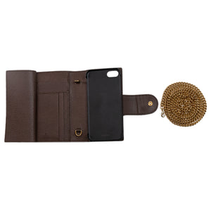 Gucci Brown Ophidia Leather Wallet Chain for Iphone 7/8
