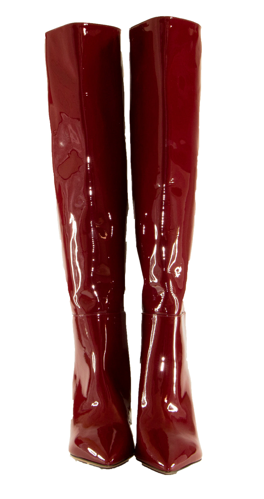 Valentino Red Patent Leather Knee High Boots