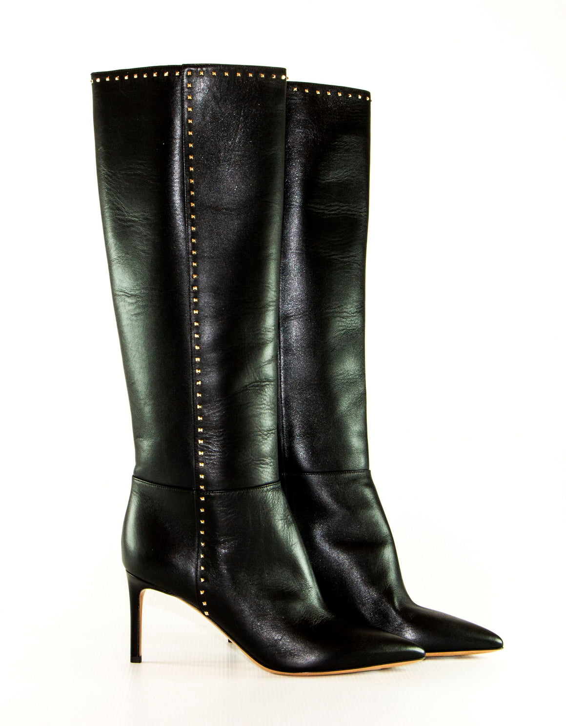 Valentino Rockstud black leather boots