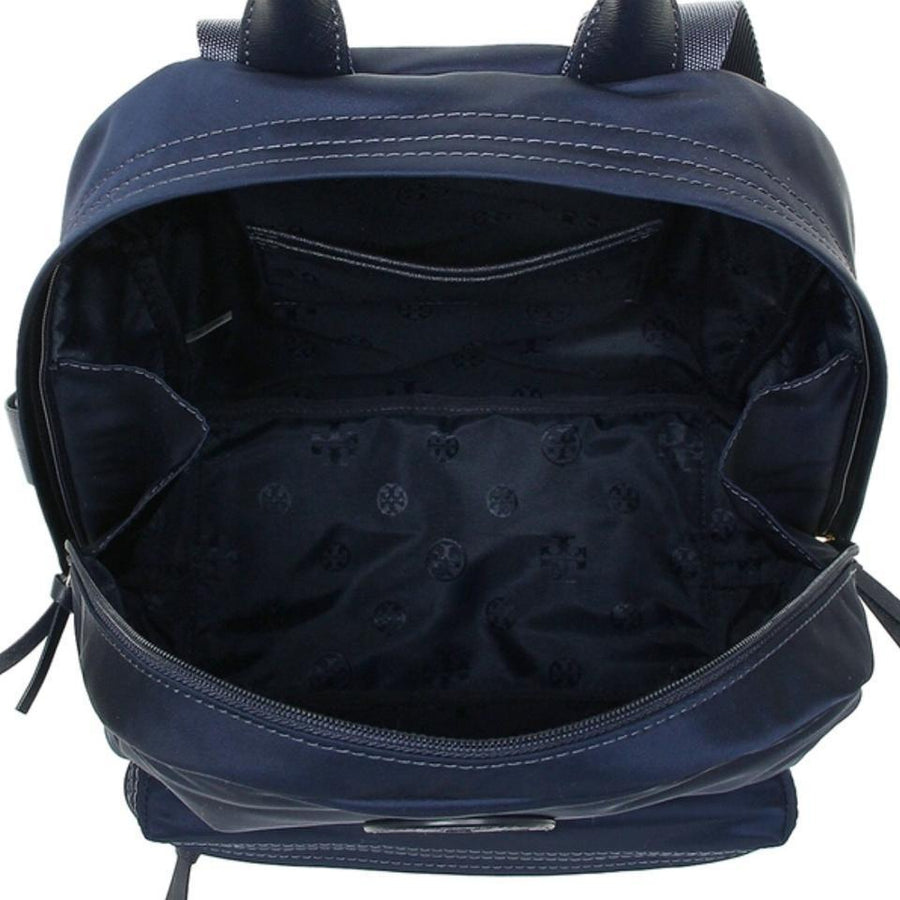 Tory Burch Ella Navy Nylon Backpack