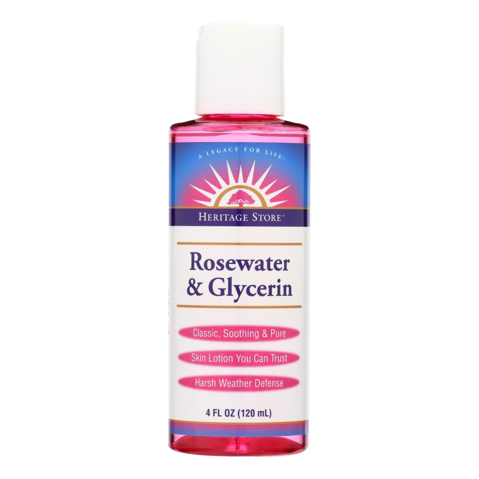 Heritage Products Rosewater And Glycerin - 4 Fl Oz