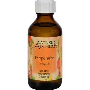 Nature's Alchemy 100% Pure Essential Oil Peppermint - 2 Fl Oz