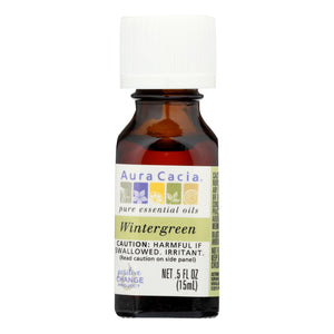 Aura Cacia - Pure Essential Oil Wintergreen - 0.5 Fl Oz