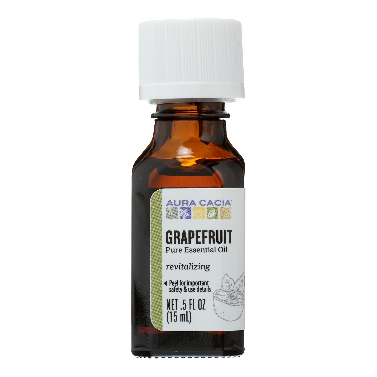Aura Cacia - Pure Essential Oil Grapefruit - 0.5 Fl Oz