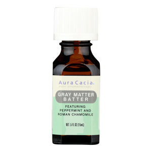 Aura Cacia - Essential Solutions Oil Gray Matter Batter - 0.5 Fl Oz