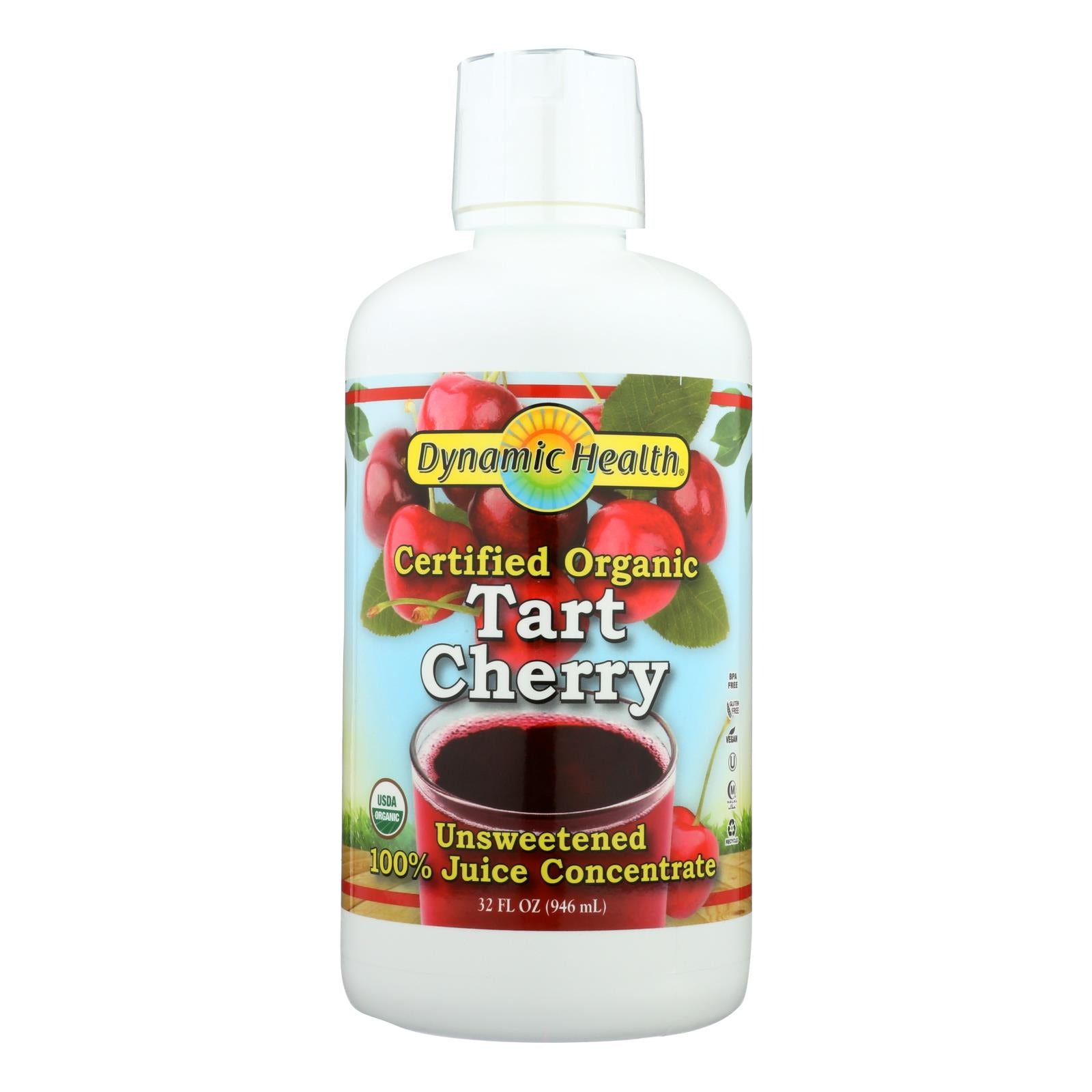 Dynamic Health Organic Tart Cherry Juice Concentrate - 32 Oz
