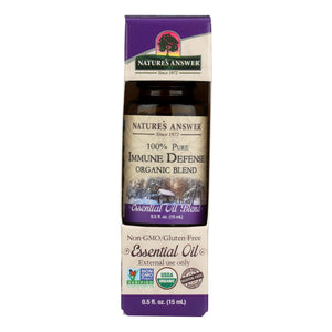 Nature's Answer - Organic Essential Oil Blend - Immune Defense - 0.5 Oz.