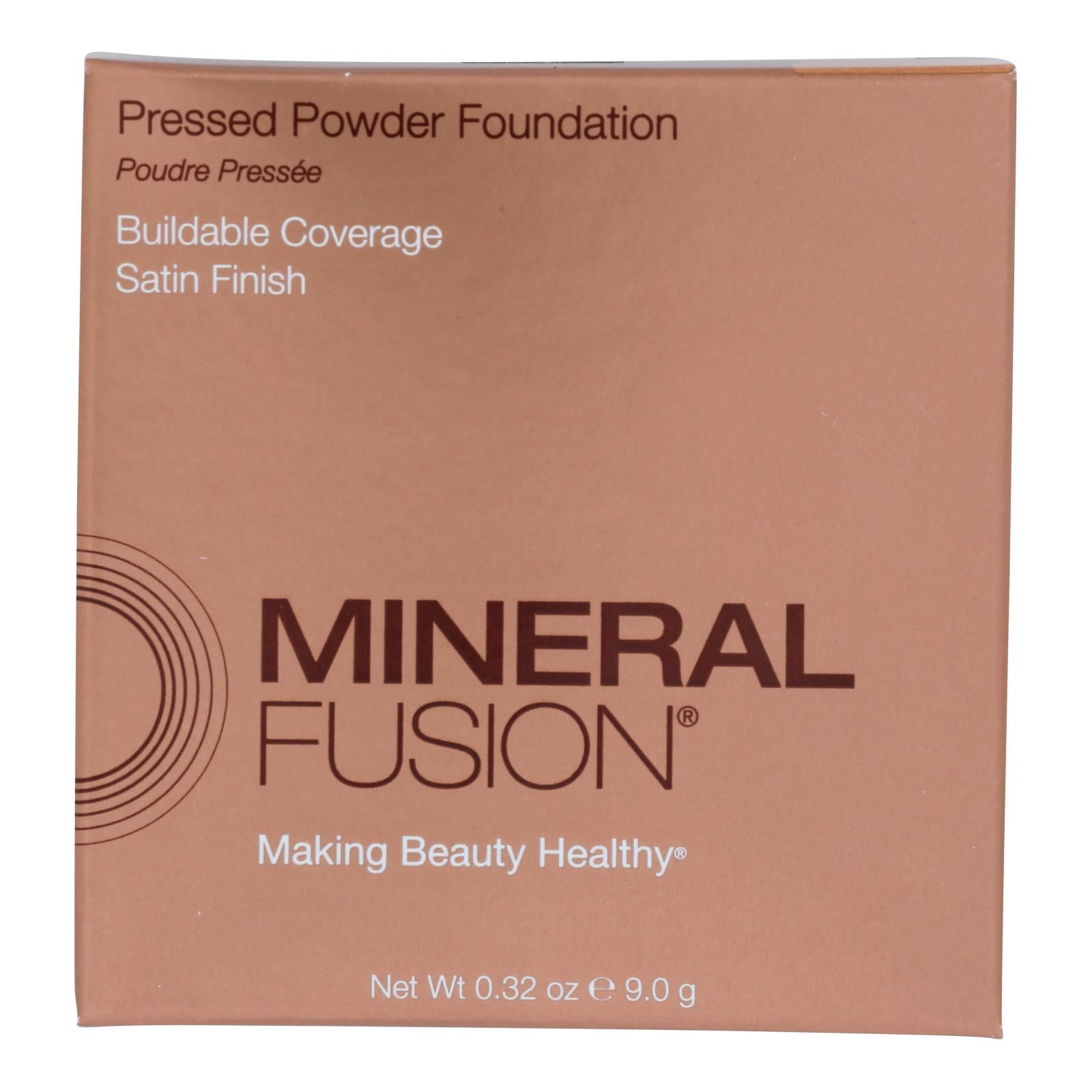 Mineral Fusion - Pressed Powder Foundation - Olive 2 - 0.32 Oz.