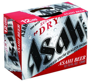 ASAHI SUPER DRY BEER 12/12oz CAN