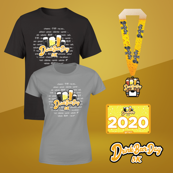 Drink Beer Day 5k - Entry + Shirt + Medal