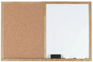 Combo Board Cork and Marker Board Oak Frame