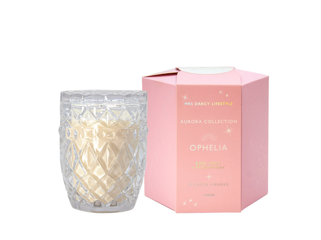 Aurora Candle - Ophelia - Rose, Apple & Passionfruit | Mrs Darcy