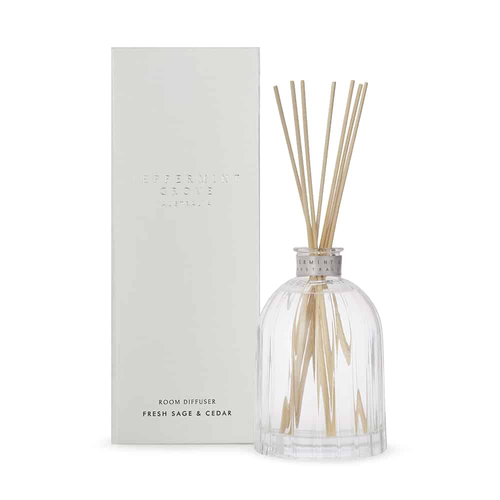 Fresh Sage & Cedar Large Diffuser 350ml | Peppermint Grove