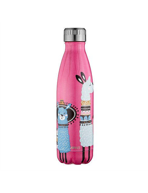 Insulated Drink Bottle - Festive Llama
