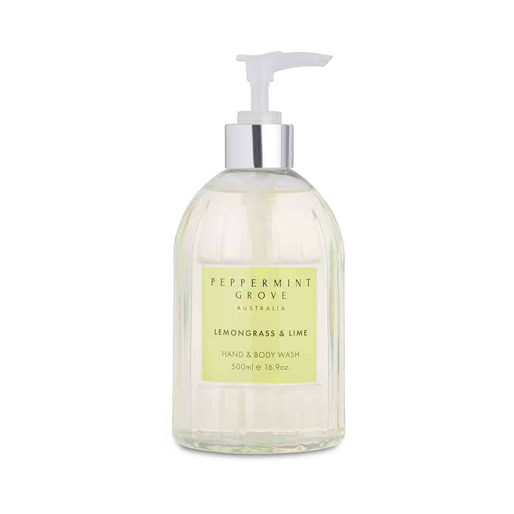 Lemongrass & Lime Hand & Body Wash 500ml | Peppermint Grove