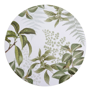 Harlem Green Round Placemat - Set Of 4