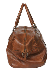 Vintage Leather Overnight Bag - Tan