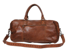 Load image into Gallery viewer, Vintage Leather Overnight Bag - Tan