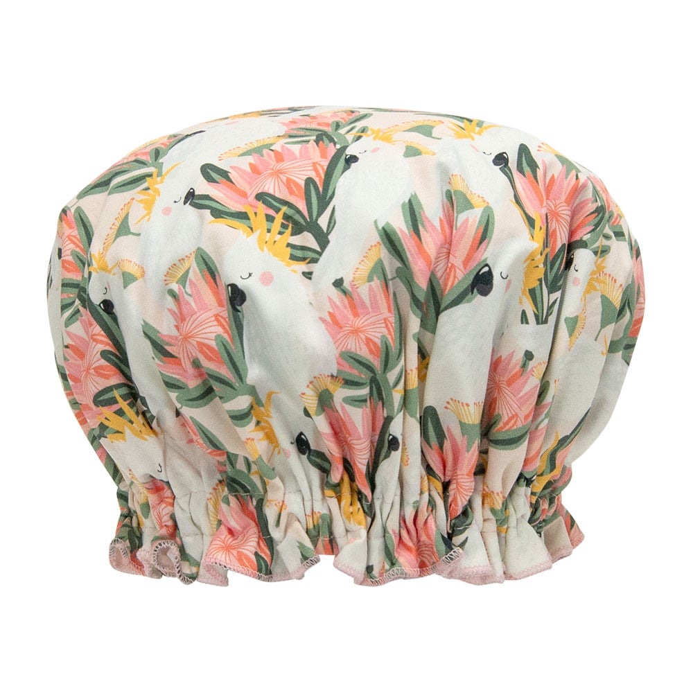 Shower Cap | Cockatoo Peach