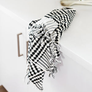 Hand Towel - Black & White