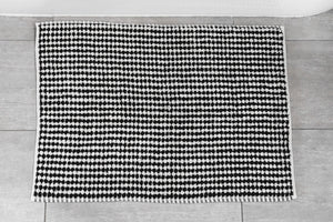 Pompom Bath Mat - Black & White