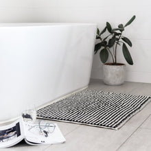 Load image into Gallery viewer, Pompom Bath Mat - Black & White