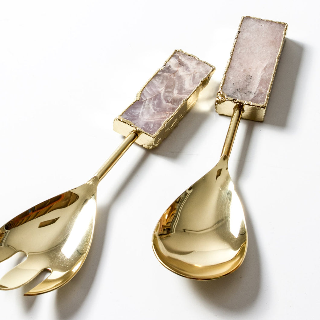 Mixed Stone Salad Servers
