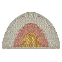 Load image into Gallery viewer, Round Doormat- Gold/Peach/Natural