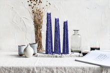 Load image into Gallery viewer, Dark Blue Icicle Candle – Night Bloom