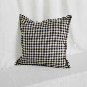 Linen Cushion Cover - Classic Gingham