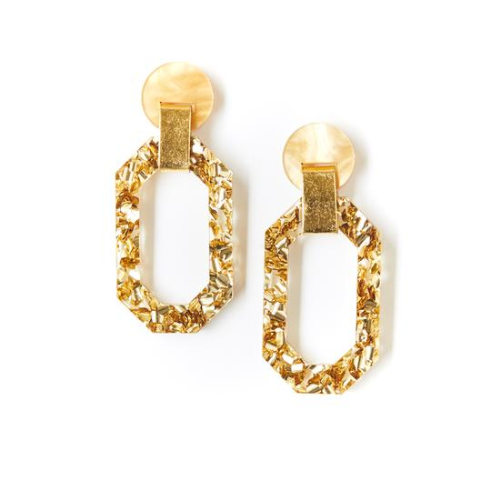 Geo Jewel Earrings - Gold Dust