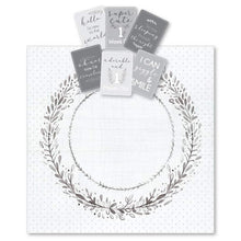 Load image into Gallery viewer, Grey Wreath Milestone Muslin & Milestone Photo Cards
