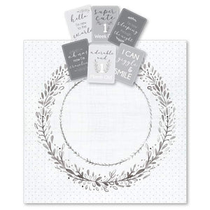 Grey Wreath Milestone Muslin & Milestone Photo Cards