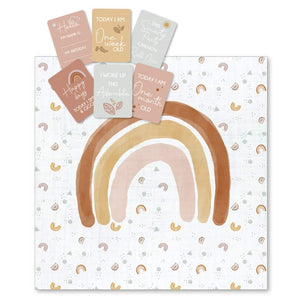 Rainbow Milestone Muslin & Milestone Photo Cards