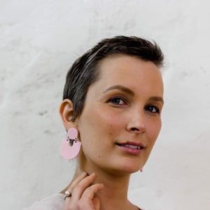 The 'Moops' Earrings - Pink