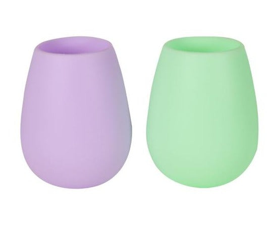 Unbreakable Wine Glasses /Tumblers - Mint + Amethyst