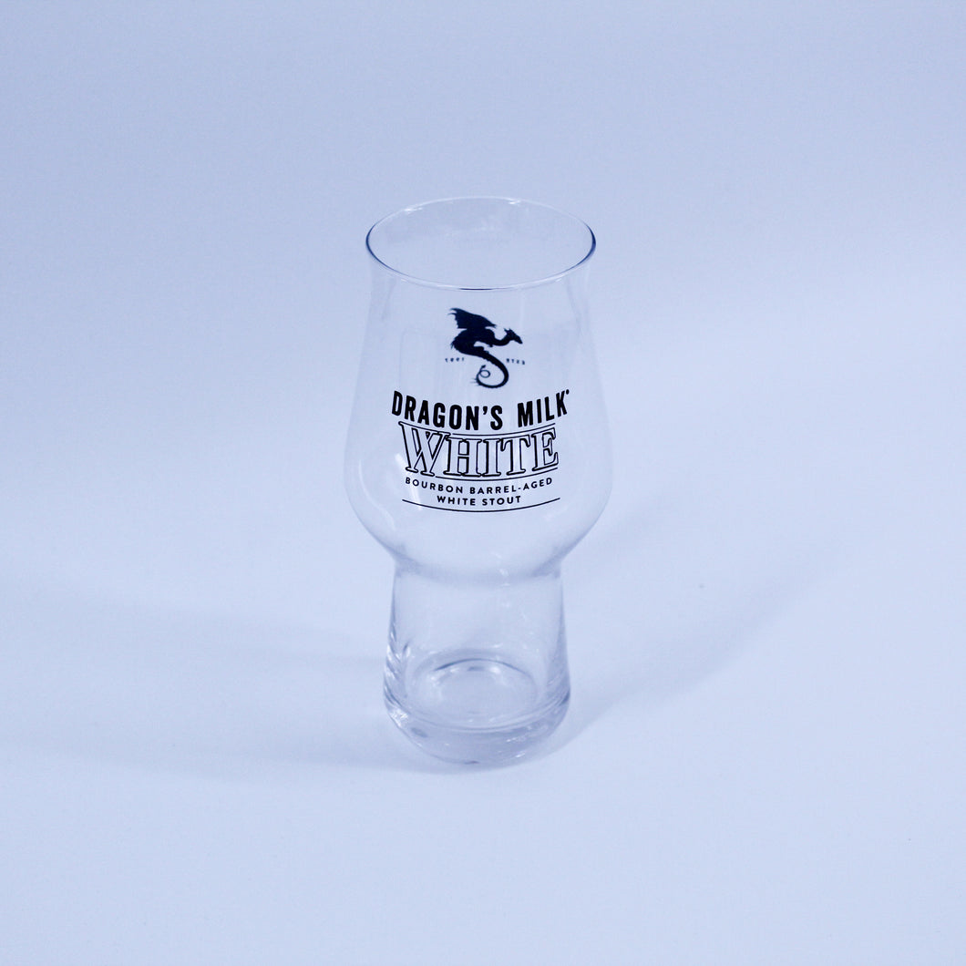Dragon's Milk White Pint Glass