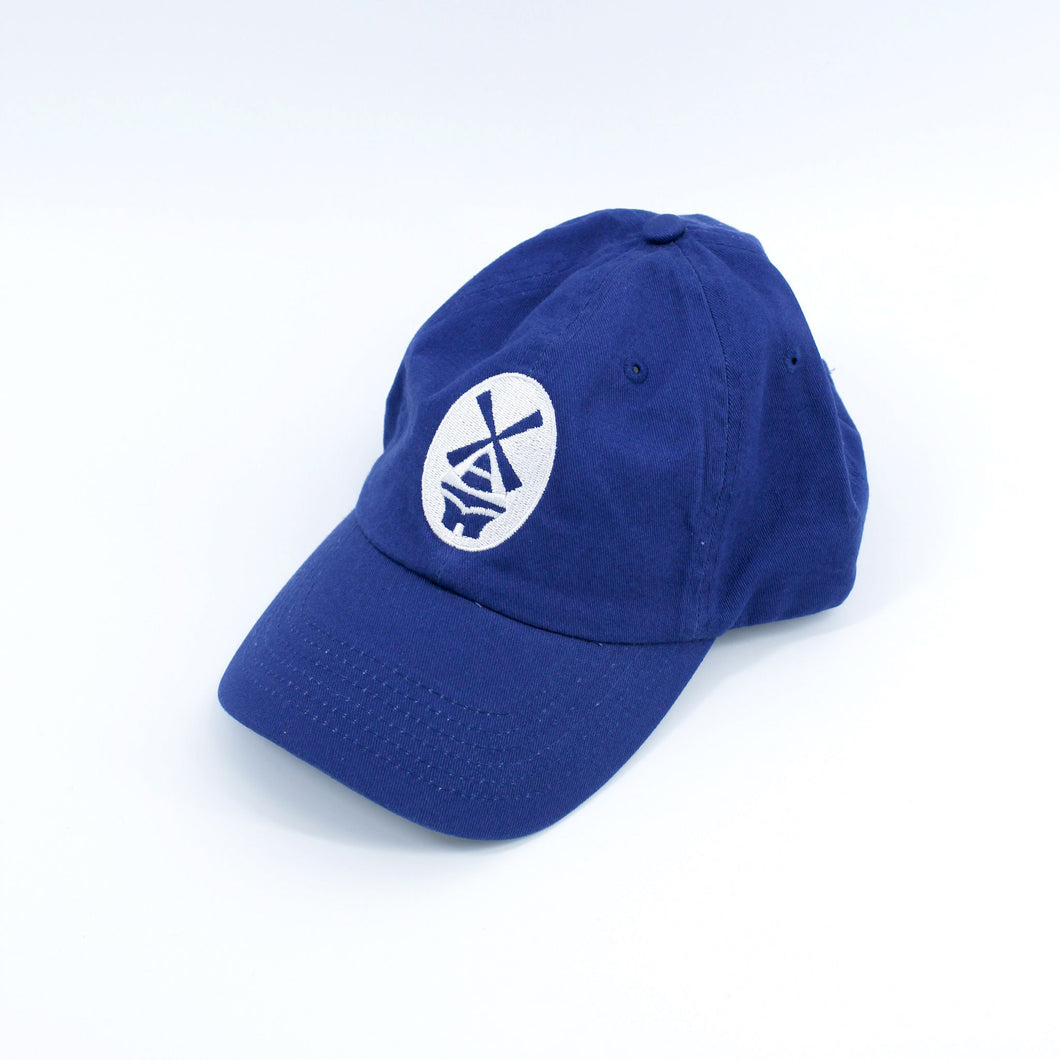 New Holland Blue Hat White Stitching