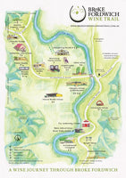 Broke Fordwich wine trail map featuring River Flats Estate