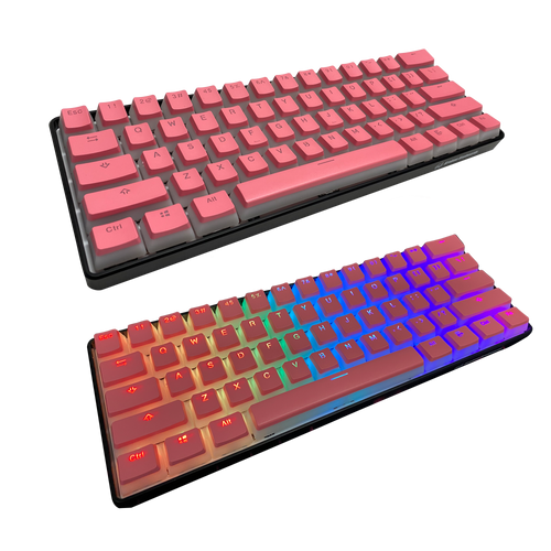 Pink Pudding Keycap Set (ISO Keys included)