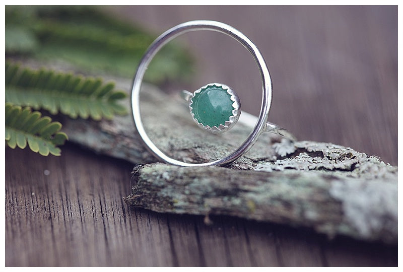 Statement ring with jade stone