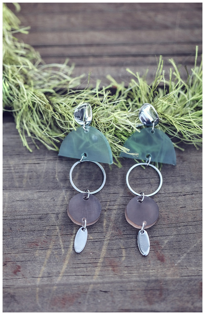 Autumn discs earrings