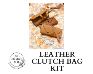 LEATHER: DIY LEATHER CLUTCH BAG