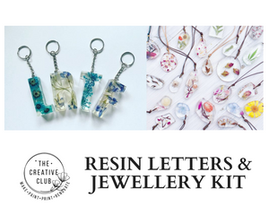RESIN: RESIN LETTERS AND JEWELLERY KIT