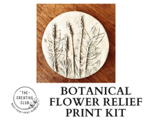 Load image into Gallery viewer, PRINT: BOTANICAL FLOWER RELIEF PRINT KIT